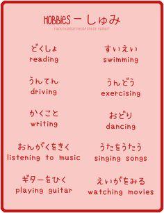Hobbies in Japanese