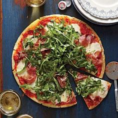 Prosciutto-Arugula Pizza | Cooking Light #myplate, #protein, #veggies #dairy