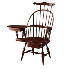 D.R.DIMES Windsor Chairs Writing Arm Chairs - Three Back Writing Arm Chair