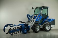 """Trencher or Trench Digging Attachment on MultiOne Loader. Find us on www.multi-one.co.za and facebook """"MultiOne SA"""" Portable Chainsaw Mill, Trench, Tractors, Monster Trucks, Vehicles, Facebook, Google Search, Places, Rolling Stock"""