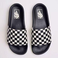fabe27c7ba4 Chinelo Vans Slide On Masculino Checkerboard White VNB004KIIP9