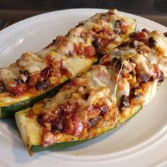 Mexikanisch gefüllte Zucchini | Herdgeflüster