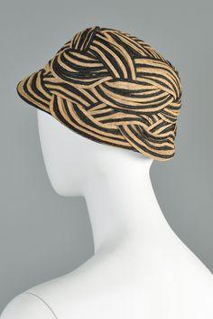 Elsa Schiaparelli Woven Stripe Hat