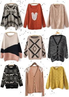 Oversized sweaters.  all of them, please