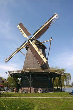Flour mill De Vriendschap, Weesp, the Netherlands.