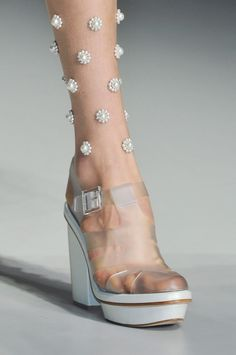 SIMONE ROCHA SS 2014...not sure about the leg gems...are they glued on?