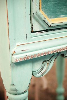 Add bling to furniture ;-)  This One's For Julia - A CeCe Turquoise Blend...