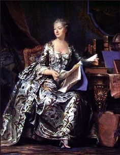 Portrait of Madame de Pompadour, by de la Tour