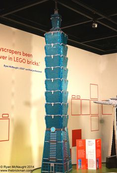 The classic former worlds tallest building Taipei Taipei 80 Hours to build 18600 Bricks Built by Mitchell Kruik and Ashley Bognar Brick Building, Lego Building, Lego Architecture, Amazing Architecture, Taipei 101, Lego Construction, Lego Moc, Lego Brick, Paper Models