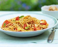 Spaghetti mit Cherrytomaten