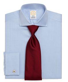 Golden Fleece® Regent Fit Herringbone French Cuff Dress Shirt