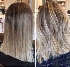 Ashy Blonde Balayage, Balayage Straight Hair, Short Straight Hair, Straight Hairstyles, Straight Hair Highlights, Long Bob, Thick Hair, Brown Ombre Hair, Brown Blonde Hair