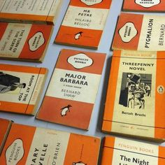 We have so beautiful books in the Bluebell Abbey country house Library! Take a look today!  #BluebellAbbey #PenguinBooks #Books #Authors #classicbooks #classicliterature #classicnovels #novels #fiction #adventure #stories #design #orange #reading #readingbooks