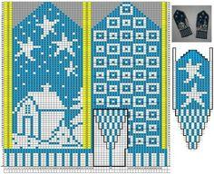 Crochet Mittens Free Pattern, Knit Mittens, Crochet Chart, Mitten Gloves, Knitting Charts, Knitting Patterns Free, Free Knitting, Knitting Socks, Crochet Wrist Warmers