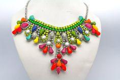 Doloris Petunia Neon Necklace
