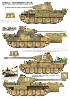 Great reference chart for Panther Ausf D and A variants that operated during the war