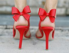 red bow shoes!!  love these!! too high of a heel for me ....maybe on a shelf since they are soo beautiful!