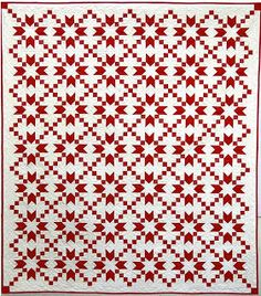 Beautiful red and white quilt pattern from Thimble Creek Quilt Shop Two Color Quilts, Blue Quilts, Star Quilts, Quilt Blocks, Sampler Quilts, Quilting Tips, Quilting Projects, Quilting Designs, Sewing Projects