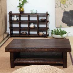 日式实木简约飘窗桌 榻榻米茶几矮桌子带抽屉地台桌宜家炕桌-淘宝网