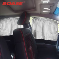 Two loaded car sunshade curtain sucker universal car sunscreen insulation silvering blackout curtains side