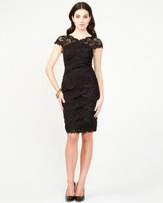 Lace & Sequin Cocktail Dress