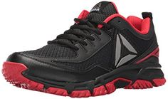Reebok Mens Ridgerider Trail 20 Running Shoe BlackPrimal RedSilver 14 M US >>> You can find out more details at the link of the image. (This is an affiliate link) #FitnessShoesForWomen