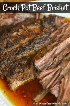 Crock Pot Beef Brisket - - Crock Pot Beef Brisket TOC's Recipes This Crock Pot Beef Brisket takes minutes to prep, and you will look like a superstar when you serve this brisket on your holiday menu. Beef Brisket Recipes Crockpot, Best Beef Recipes, Crockpot Meat, Slow Cooker Brisket, Beef Recipes For Dinner, Crock Pot Brisket, Best Brisket Recipe, Brisket Meat, Pot Roast Brisket