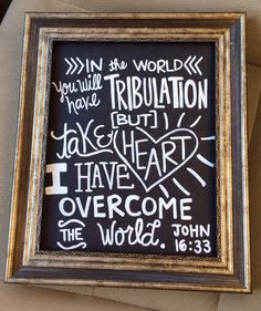 Chalkboard scripture art DIY