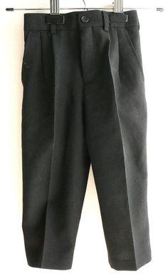Boy's Black Pants Formal Dressy Holiday Sunday Slacks, Size 2 21W Easy Wash #CallaCollection #Pants #DressyHoliday