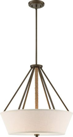 Bellvue 4 - Light Unique / Statement Drum Chandelier with Rope Accents Strip Lighting, Home Lighting, Modern Lighting, Lighting Ideas, Coastal Lighting, Kitchen Pendant Lighting, Light Pendant, Drum Pendant, Drum Chandelier