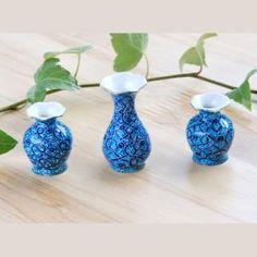 ペルシャ伝統工芸ミナカリの花瓶3点セット Petit Mina Vase set |  | BECKYSON ベッキーソン
