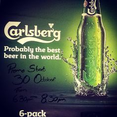 This Friday the 30th of October we will be having a Carlsberg Promo with prizes to be won...