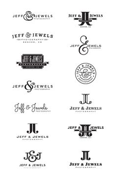 initial photography logo design options we provided for Jeff & Jewels Photography