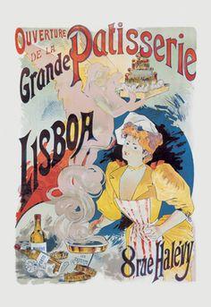 Grande Patisserie Lisboa Poster Print by Charles Gesmar Vintage Artwork, Vintage Posters, Jules Cheret, Artwork Prints, Poster Prints, Poster Wall, Art Commerce, Creation Photo, Cafe Art
