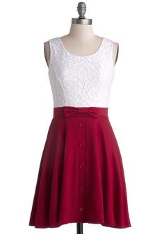 Town Festival Dress in Cherry. Your town may be small, but the annual festival shows that it has a big heart!  #modcloth