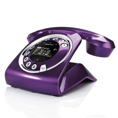 Sagemcom sixty purple cordless phone new vintage retro design violet teleph The Purple, Purple Home, All Things Purple, Shades Of Purple, Purple Stuff, Purple Colors, My Favorite Color, My Favorite Things, Cordless Telephone