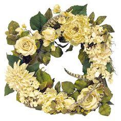 Bella Vita Cream Rose, Peony, Hydrangea & Dahlia Wreath | Shop Hobby Lobby