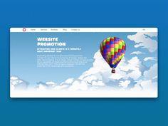 SEO services page. Sky by Tema Tarasov