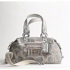 998ac319014c Coach 15861 Lurex Sig C Satchel Shoulder Bag Handbag Purse Silver  299.99  Beautiful Handbags