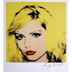 Andy Warhol, signed Print, Debbie Harry, 1986 : Lot 137 ❤ liked on Polyvore featuring art, decor, fillers, pics and backgrounds