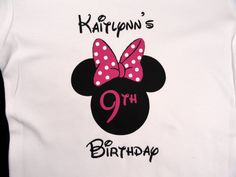 Custom Mouse Ears with Bow Birthday Shirt by Beecustominc on Etsy,