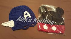 Toddler Captain America Beanie and Mickey Mouse beanie!