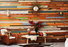 Palate Pallet Palette: Reclaimed Pallet Wood Accent Walls. I do like the idea of painting them before you put them up.
