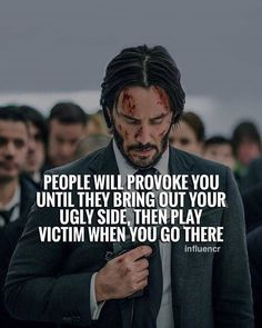 Positive Quotes : People will provoke you until they bring out your ugly side then play victim whe. - Hall Of Quotes Wise Quotes, Quotable Quotes, Great Quotes, Quotes To Live By, Funny Quotes, Deep Quotes, Short Quotes, Inspiring Quotes About Life, Inspirational Quotes
