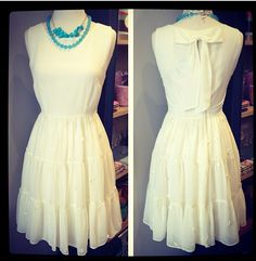This is the sweetest dress from Darling.  Perfect for a sumer party or day... or even for any of our future brides for a rehearsal dinner or bridal party ;)  www.shakethetreeboston.com
