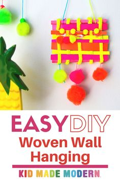 Woven wall hangings are incredibly gorgeous textiles and make a real statement in your home, and they also happen to be really fun for kids of all ages to make! #diyhomedecor #diykidsarts #artsandcrafts #madeforkids Beach Crafts For Kids, Camping Crafts For Kids, Kids Fall Crafts, Rainy Day Crafts, Summer Crafts For Kids, Craft Projects For Kids, Summer Diy, Spring Crafts, Diy For Kids