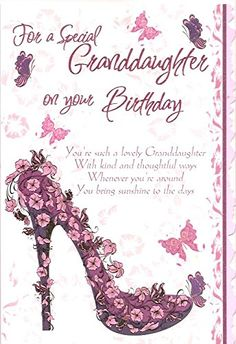 For A Special Granddaughter On Your Birthday Amazoncouk Office Products