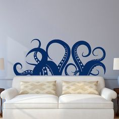 Wall Decal Kraken Octopus Tentacle Sea Animals by FabWallDecals