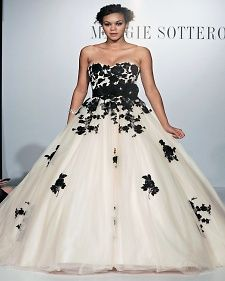 Beautiful Black Lace Embroidered On This Maggie Sottero Wedding Dress Color Palette White Pinterest Dresses
