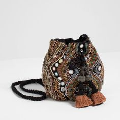 BEADED CROSS-BODY BUCKET BAG-View all-BAGS-WOMAN | ZARA United States